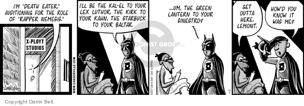 Comic Strip Darrin Bell  Candorville 2007-11-08 superhero