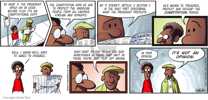 Comic Strip Darrin Bell  Candorville 2007-11-11 Constitution