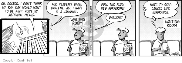 Comic Strip Darrin Bell  Candorville 2007-11-17 waiting room