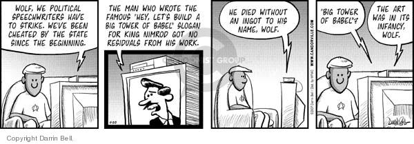 Comic Strip Darrin Bell  Candorville 2007-11-20 wolf