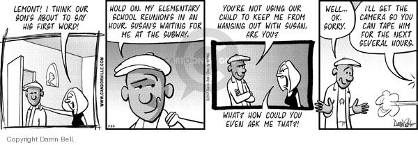 Cartoonist Darrin Bell  Candorville 2007-11-26 elementary school