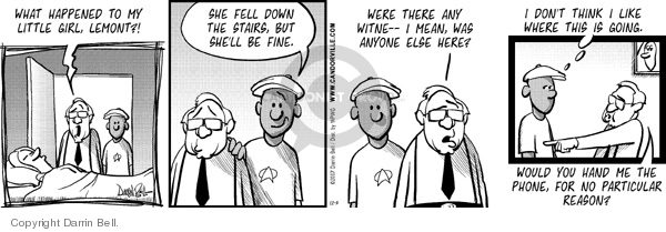 Comic Strip Darrin Bell  Candorville 2007-12-03 suspicion