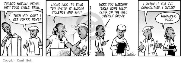 Comic Strip Darrin Bell  Candorville 2007-12-06 Fox News