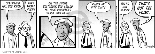 Comic Strip Darrin Bell  Candorville 2007-12-10 father daughter