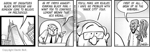 Comic Strip Darrin Bell  Candorville 2007-12-14 no problem