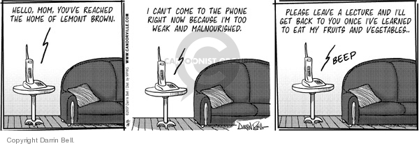 Comic Strip Darrin Bell  Candorville 2007-12-15 call