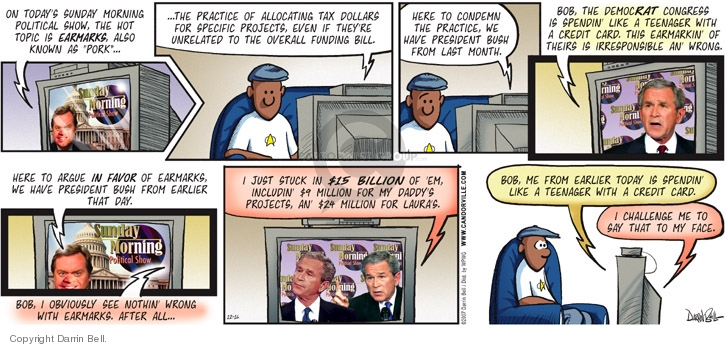 Comic Strip Darrin Bell  Candorville 2007-12-16 republican debate