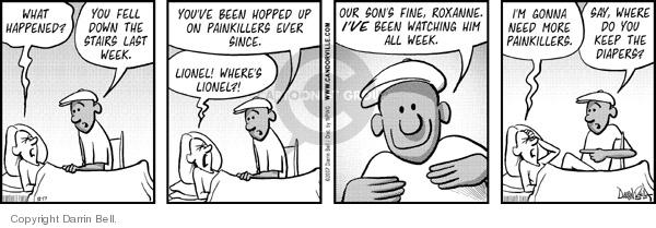 Cartoonist Darrin Bell  Candorville 2007-12-17 parenting