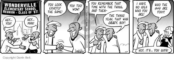 Comic Strip Darrin Bell  Candorville 2007-12-21 reunion