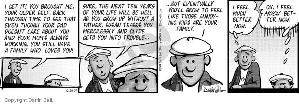 Comic Strip Darrin Bell  Candorville 2007-12-28 sufferings