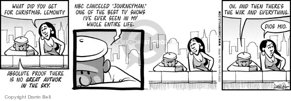 Comic Strip Darrin Bell  Candorville 2008-01-01 war on Christmas