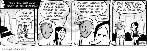 Comic Strip Darrin Bell  Candorville 2008-01-04 reunion