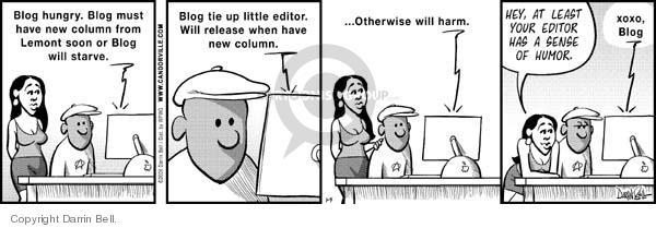 Comic Strip Darrin Bell  Candorville 2008-01-05 threat