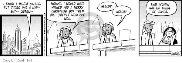 Comic Strip Darrin Bell  Candorville 2008-01-07 war on Christmas