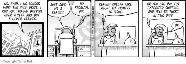 Comic Strip Darrin Bell  Candorville 2008-01-10 customer support
