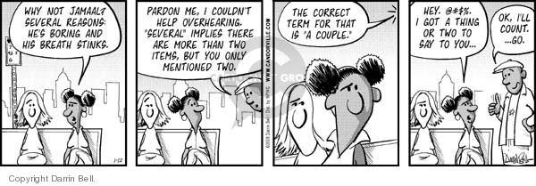Comic Strip Darrin Bell  Candorville 2008-01-12 accurate