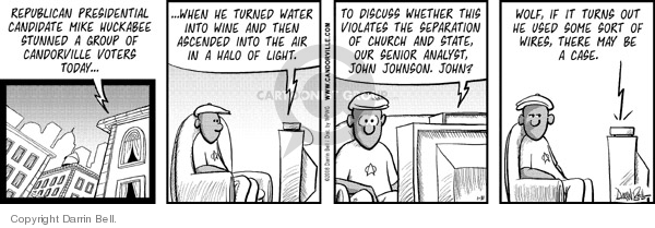 Comic Strip Darrin Bell  Candorville 2008-01-31 church state