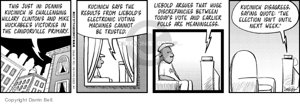 Comic Strip Darrin Bell  Candorville 2008-02-01 Mike Huckabee
