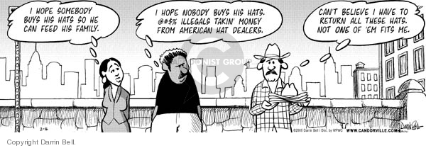 Comic Strip Darrin Bell  Candorville 2011-03-05 hat