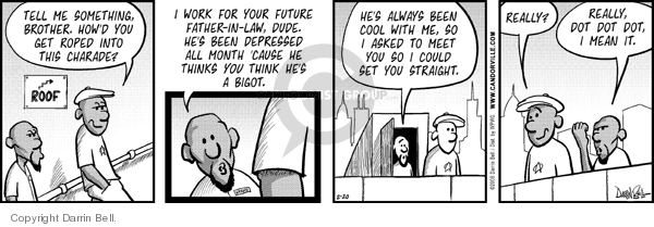 Comic Strip Darrin Bell  Candorville 2008-02-20 interference