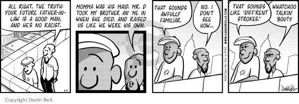 Comic Strip Darrin Bell  Candorville 2008-02-21 storylines