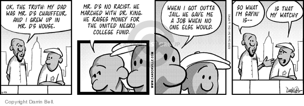 Comic Strip Darrin Bell  Candorville 2008-02-22 truth