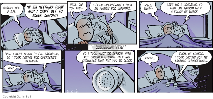 Comic Strip Darrin Bell  Candorville 2008-03-09 sleep disorder