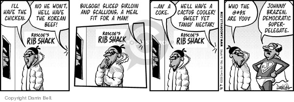 Comic Strip Darrin Bell  Candorville 2008-03-13 fast food meal