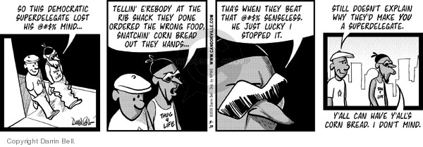 Comic Strip Darrin Bell  Candorville 2008-03-14 fast food