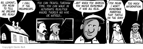 Comic Strip Darrin Bell  Candorville 2008-03-22 alternative reality