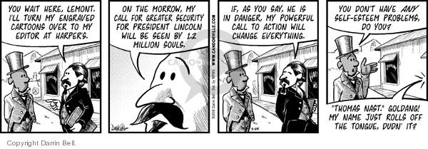 Cartoonist Darrin Bell  Candorville 2008-03-25 wait