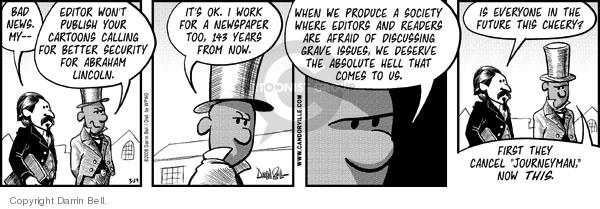 Comic Strip Darrin Bell  Candorville 2008-03-29 Abraham