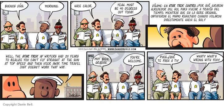 Comic Strip Darrin Bell  Candorville 2008-04-06 heat
