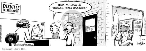 Comic Strip Darrin Bell  Candorville 2008-04-14 tax preparation