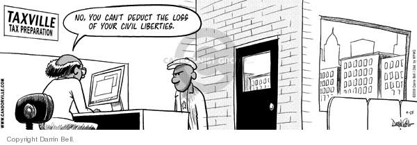 Comic Strip Darrin Bell  Candorville 2008-04-15 Liberty Bell