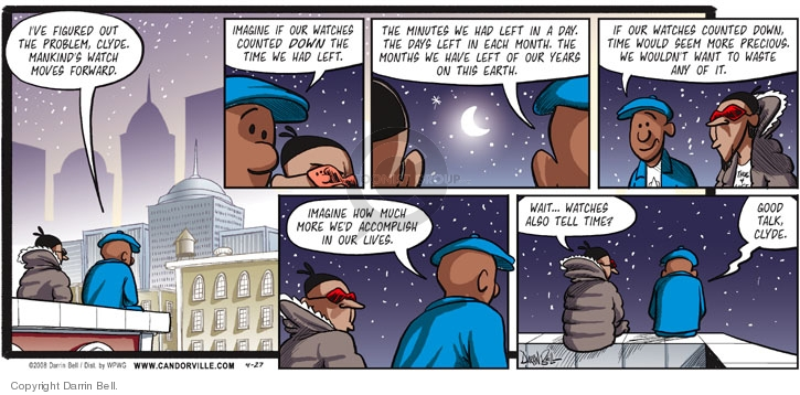 Comic Strip Darrin Bell  Candorville 2008-04-27 month