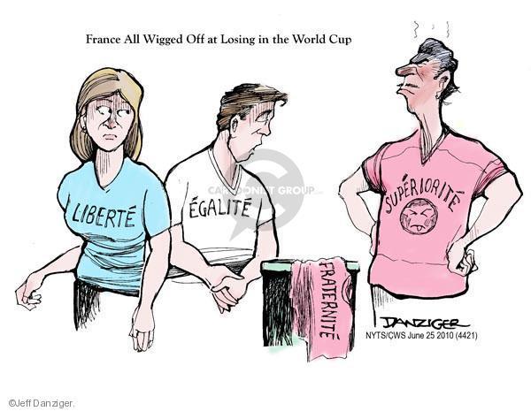 Cartoonist Jeff Danziger  Jeff Danziger's Editorial Cartoons 2010-06-25 World Cup