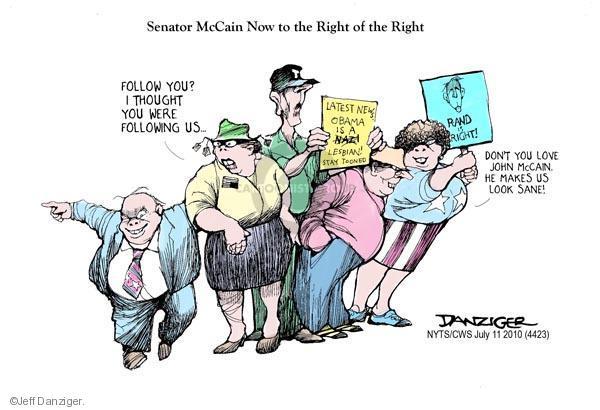 Cartoonist Jeff Danziger  Jeff Danziger's Editorial Cartoons 2010-07-11 John McCain