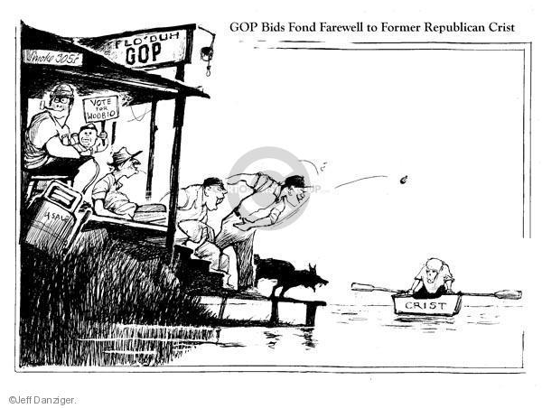 Cartoonist Jeff Danziger  Jeff Danziger's Editorial Cartoons 2010-05-03 party