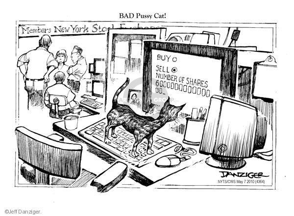 Jeff Danziger  Jeff Danziger's Editorial Cartoons 2010-05-07 stock market