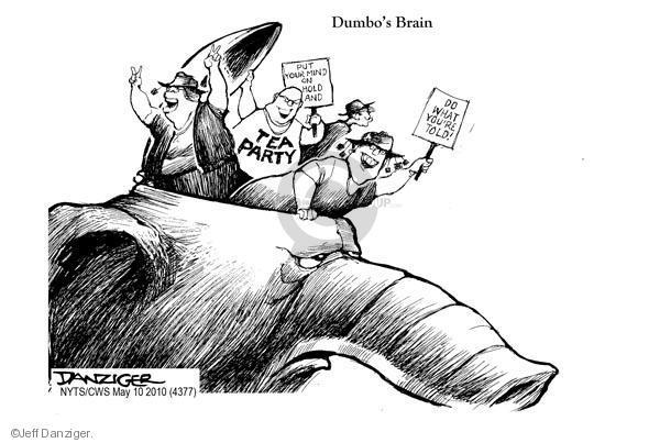 Cartoonist Jeff Danziger  Jeff Danziger's Editorial Cartoons 2010-05-10 party