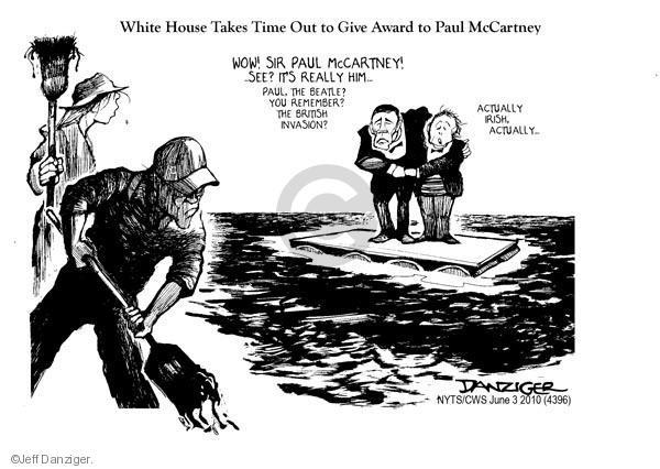 Cartoonist Jeff Danziger  Jeff Danziger's Editorial Cartoons 2010-06-03 give up