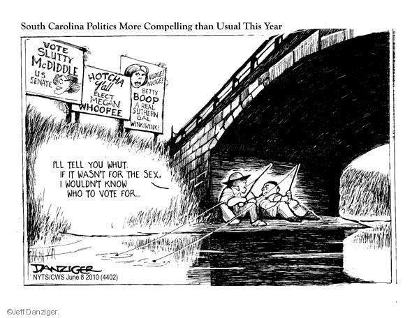 Cartoonist Jeff Danziger  Jeff Danziger's Editorial Cartoons 2010-06-08 South Carolina