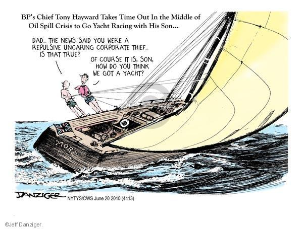 Jeff Danziger  Jeff Danziger's Editorial Cartoons 2010-06-20 political ethics