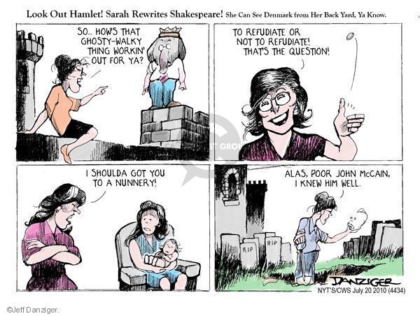 Cartoonist Jeff Danziger  Jeff Danziger's Editorial Cartoons 2010-07-20 John McCain