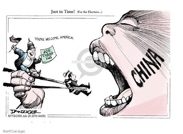 Jeff Danziger  Jeff Danziger's Editorial Cartoons 2010-07-20 chinese