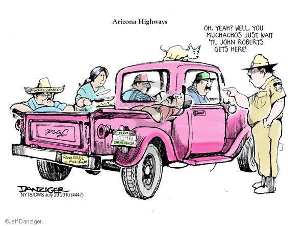 Cartoonist Jeff Danziger  Jeff Danziger's Editorial Cartoons 2010-07-29 Arizona