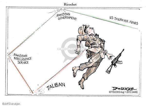 Cartoonist Jeff Danziger  Jeff Danziger's Editorial Cartoons 2010-08-01 casualty