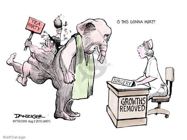 Cartoonist Jeff Danziger  Jeff Danziger's Editorial Cartoons 2010-08-02 party loyalty