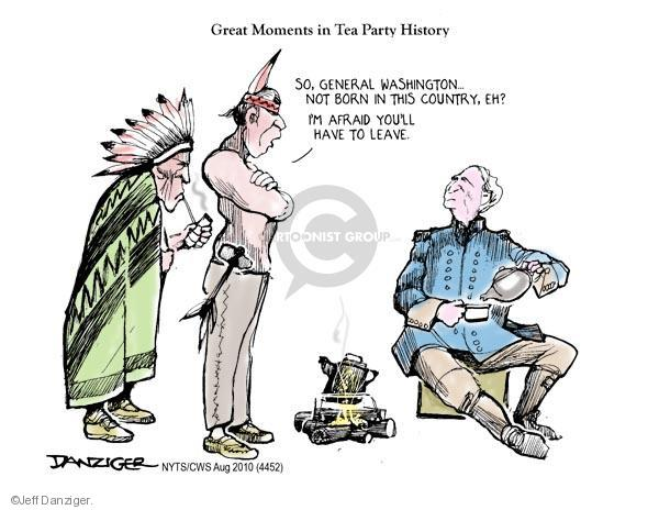 Cartoonist Jeff Danziger  Jeff Danziger's Editorial Cartoons 2010-08-07 Native American